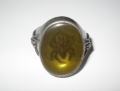 Amber Tomb Spider Ring Size Q